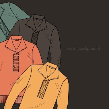 Vector background with men's sweater. stock vector