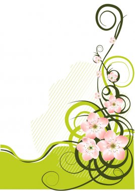 Spring background with spring flowers - vector illustration stock vector