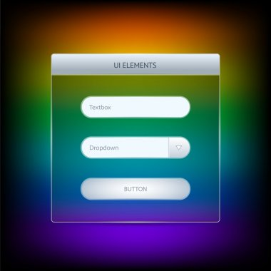Ui elements. Vector illustration. stock vector