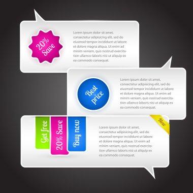 Vector speech bubbles. Vector illustration. stock vector