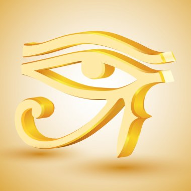 Gold eye of Horus. stock vector