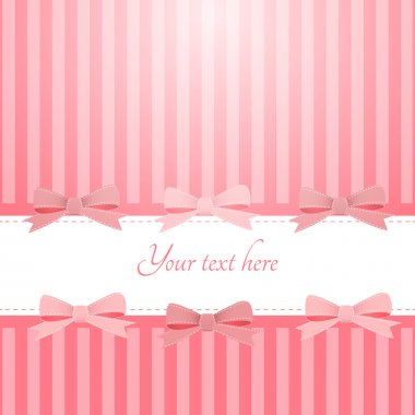 Vector pink background with bows stock vector