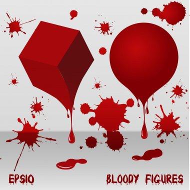 Bloody figures. Vector illustration. stock vector