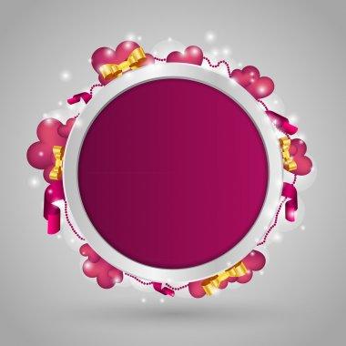 Valentines Background. Vector illustration. stock vector