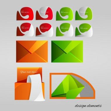 Vector set of design elements. stock vector