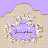 Vector purple frame with crown.