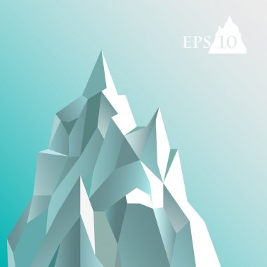 Vector illustration of abstract iceberg. stock vector