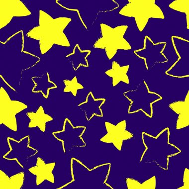 Vector blue background with yellow stars. stock vector