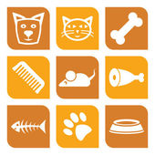 Collection of pet icons - vector illustration dogs and cats