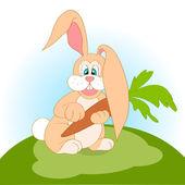 ilustrace kreslený králík s mrkví