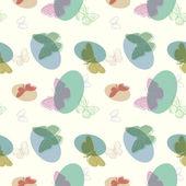 bezešvé motýl pozadí - vektorové ilustrace