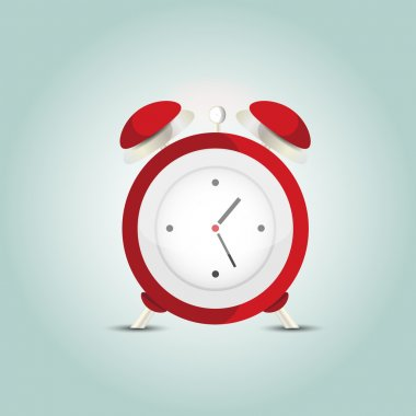 Vector illustration of red alarm clock. stock vector