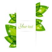 Fresh green leaves vector border