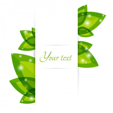Fresh green leaves vector border stock vector