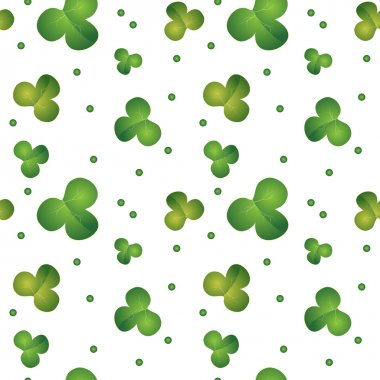 Green seamless clover pattern - vector background for St. Patrick's Day