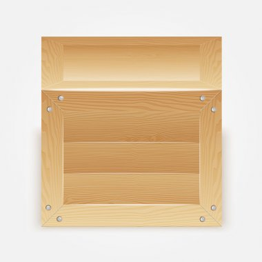 Vector illustration of wooden box stock vector
