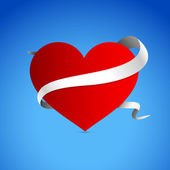 Vector background with heart for Valentines day.