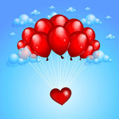 Valentines background with balloons