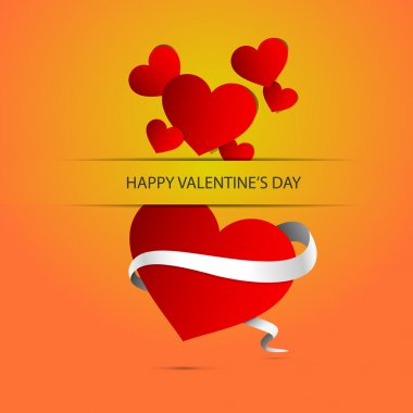 Vector background with heart for Valentine's day. stock vector