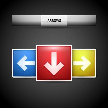 Vector arrow buttons. Vector illustration. stock vector