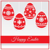 Happy Easter Card - Vector Illustration