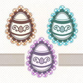 Vector set of easter eggs.
