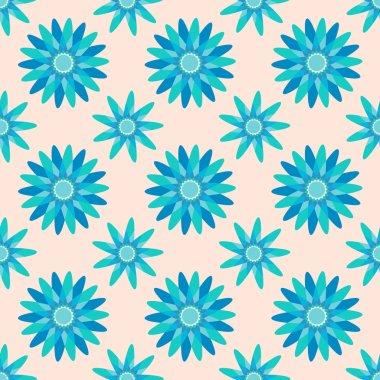 Seamless flower pattern background stock vector