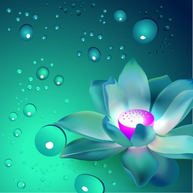 Vector flower with bubbles stock vector