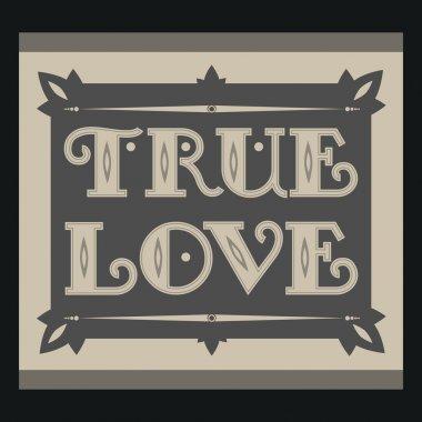 True love. Vintage background. stock vector