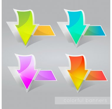 Abstract colored banners with arrows. Vector illustration. stock vector