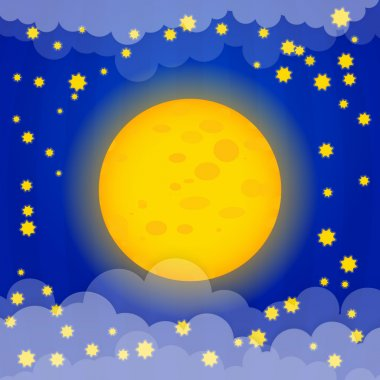 Moon with stars vector illustration stock vector