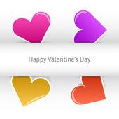 Vektor Valentines Tageskarte