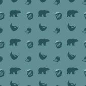 Medve és a sör. Vektoros illusztráció