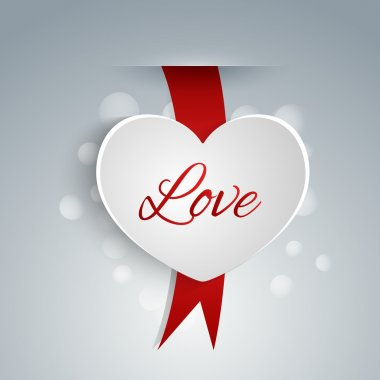 Heart shaped label for Valentine's day. stock vector