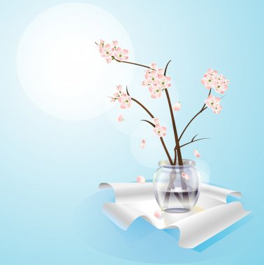 Flowers in vase vector stock vector