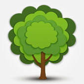 Nature vector green tree banner