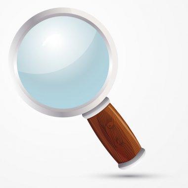 Vector magnifying glass. Vector illustration. stock vector