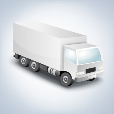 Delivery truck - vector illustration stock vector