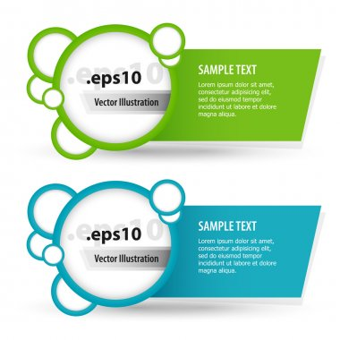 Vector set of banners. stock vector