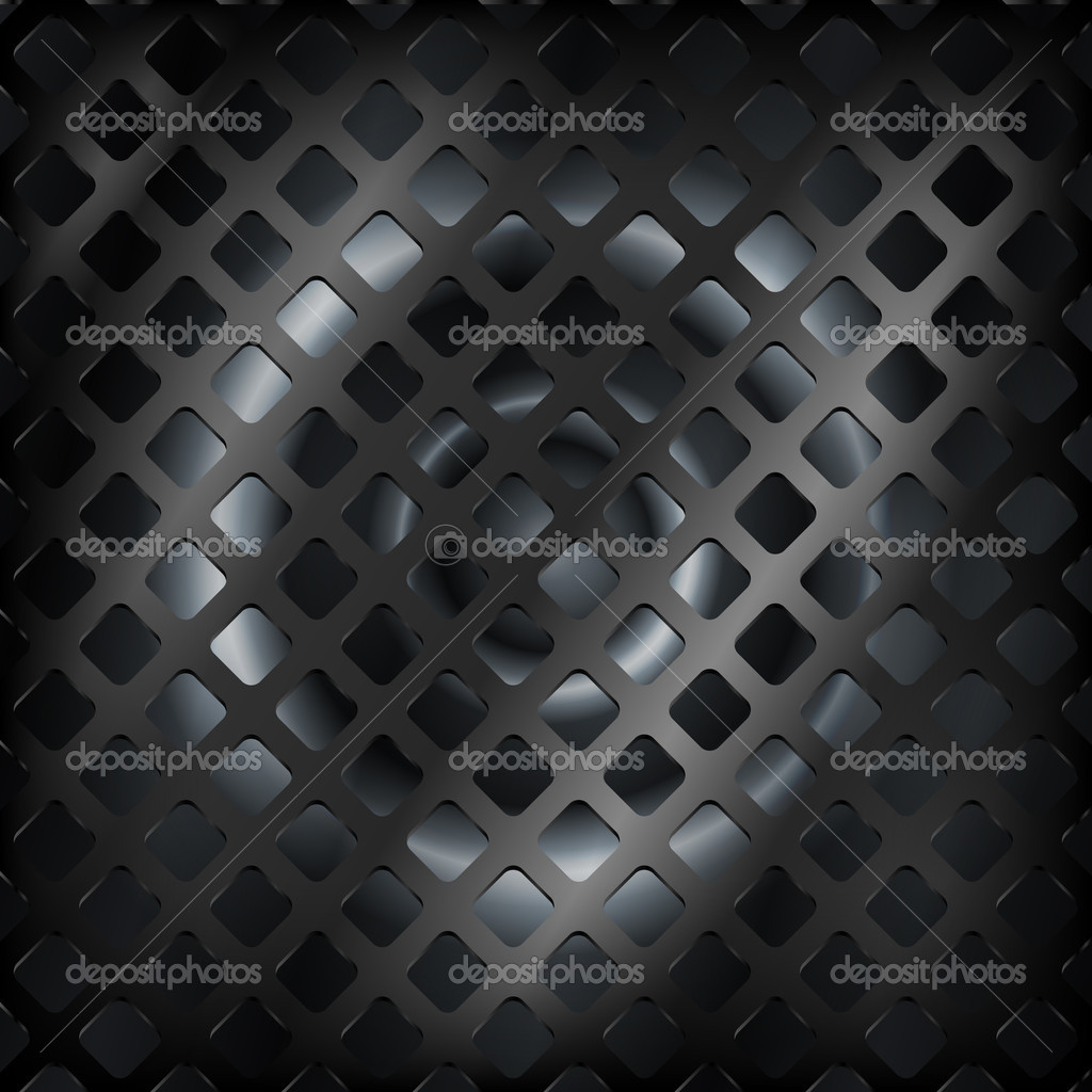 Vector black steel background. stock vector