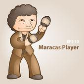 Vektor-Illustration eines Maracas-Spielers.