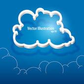 Vector cloud icon. Vector illustration.