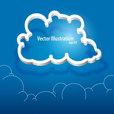 Vector cloud icon. Vector illustration. stock vector