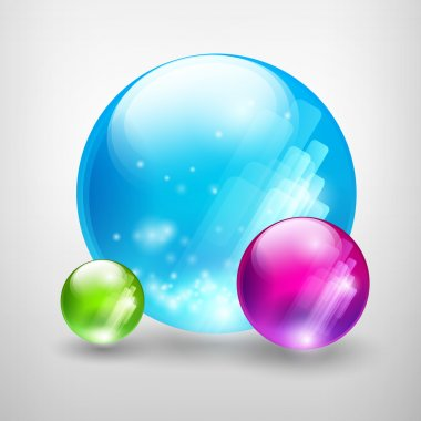 Abstract colored bubbles. Vector illustration. stock vector