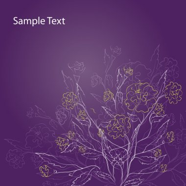 Excellent Purple Floral Background - Vector illustration stock vector