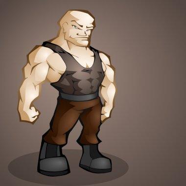 Muscular man. Vector illustration. stock vector