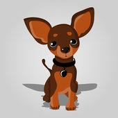vektor illusztráció egy aranyos kutya.
