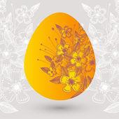Vector illustration of a floral easter egg.
