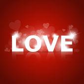 vektor zářící znamení lásky.