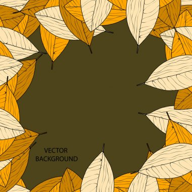 Vector background with autumn leaves. stock vector
